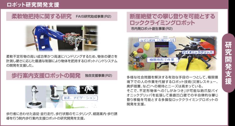 ロボット研究開発支援