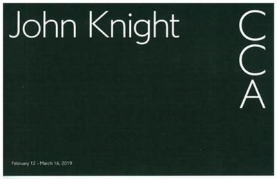 現代美術センターCCA北九州「ジョン・ナイト展」のご案内